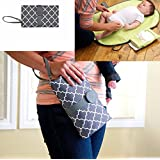 Willcome Multifunction Diaper Changing Clutch Nursery, Portable Waterproof Changing Station Mat Pad for Baby Infants and Toddlers Travel Accessories, Grey