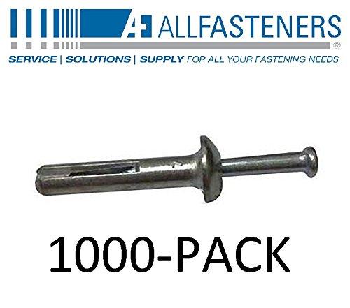 Allfasteners 1/4'' x 1-1/2'' Zamac Mushroom Nail in on Hammer Drive Anchor 1ZHD14112 1000-Pack