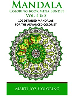 Mandala Coloring Book Mega Bundle Vol 4 5 100 Detailed Patterns