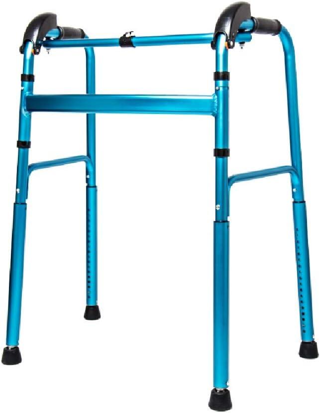 Andador sin ruedas   Marco de andar bariátrico para personas mayores Ancho   Adultos adultos mayores para escaleras Interior al aire libre   Plegable portátil plegable ligero   Azul