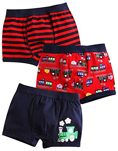 Kids Choo Train - Vaenait baby 2T-7T Toddler Kids Boxer Briefs 3-Pack Set Choo Choo Train L