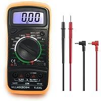Digitale multimeter XL830L met LCD-achtergrondverlichting, meetinstrument voor stroom, AC/DC-spanning, weerstand…