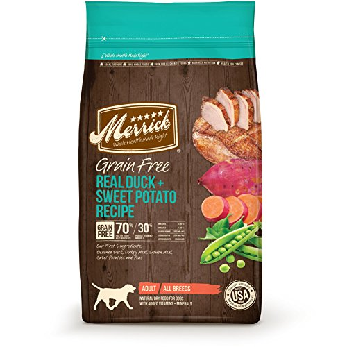 Merrick-Grain-Free-Real-Duck-Sweet-Potato-Recipe-Dry-Dog-Food-25-Pound