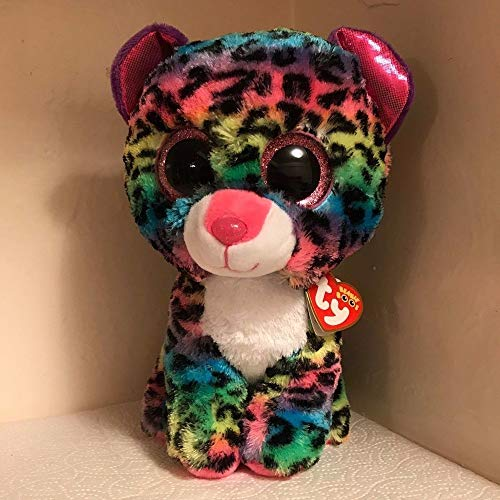 Motonupic Ty Beanie Boos 20 Quot 50cm Dotty The Multicolor Leopard Plush Large Soft Big Eyed Stuffed Animal - Speckled Turtles Money Rusty Backpack Cube Duke Daffodil Dinosaur Ex from Motonupic