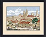 Framed Print of Spain. Galicia. Santiago de Compostela. Partial view of the city with the