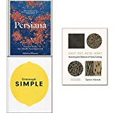 Books : Ottolenghi SIMPLE, Persiana,Salt, Fat, Acid, Heat 3 Books Collection Set
