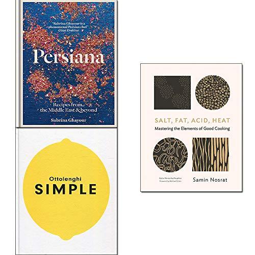 : Ottolenghi SIMPLE, Persiana,Salt, Fat, Acid, Heat 3 Books Collection Set