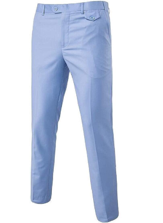 JXG Men Slim Plus Size Cozy Solid Casual Pants Trousers