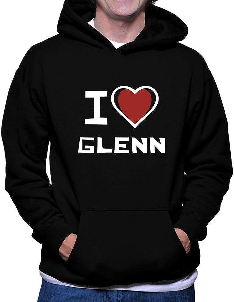 Teeburon I Love Glenn Bicolor Heart Hoodie