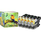 Ink Hero 5 Black HIGH YIELD Ink Cartridges for Brother LC-203 MFC-J4320DW MFC-J4420DW MFC-J460DW MFC-J4620DW MFC-J480DW MFC-J485DW MFC-J5520DW MFC-J5620DW MFC-J5720DW MFC-J680DW MFC-J880DW MFC-J885DW