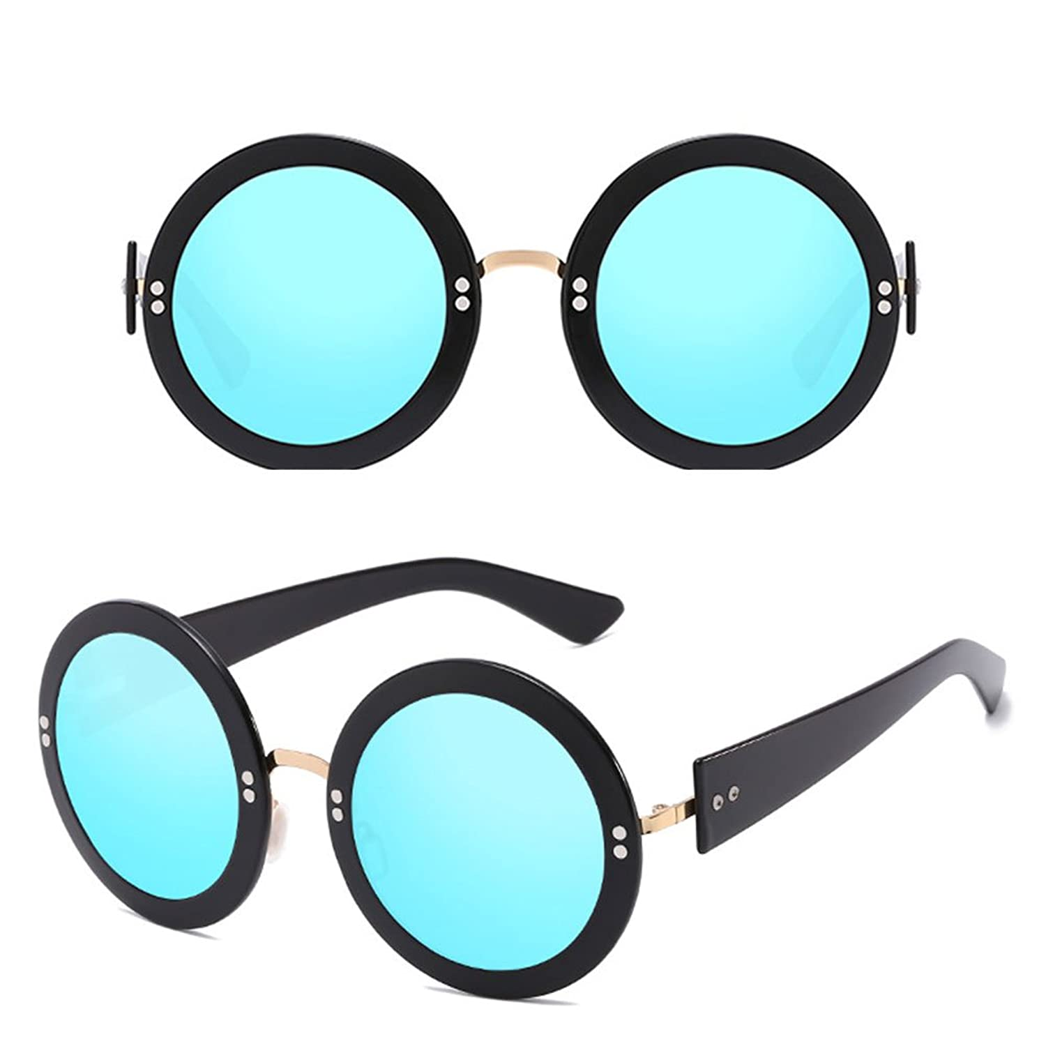 Zhhlaixing Mode Fashion Womens Mens Sunglasses Round Frame Color Film Personality Glasses for Unisex vVr7C