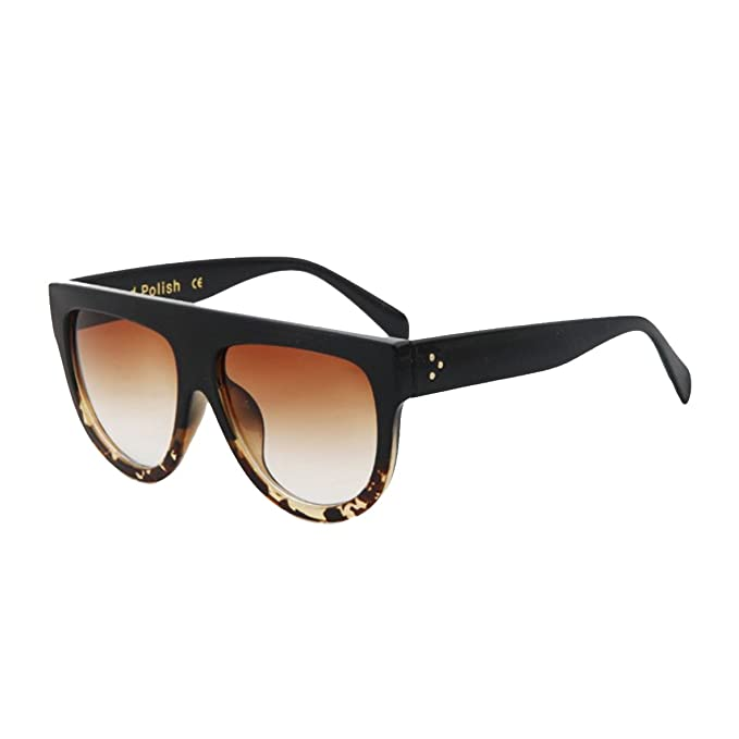 New Energy Gafas de sol, color negro, montura grande de ...
