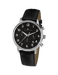 Jacques Lemans Unisex Retro Classic 39mm Leather Band Quartz Watch N-209ZI