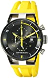 Locman Italy Men's 0510BKBKFYL0GOY Montecristo Classic Chronograph Analog Display Quartz Yellow Watch