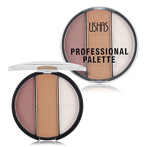 TaiMei Cosmetic Bronzer Highlighter Powder Makeup Palette Trimming Powder Base Contour Powder (01) -  USHAS-ES2573