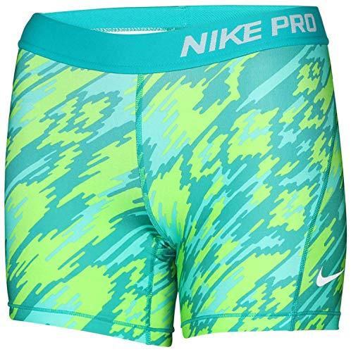 9b6e440bf0 Nike Big Girls (7-16) Dri-Fit Pro Allover Print Training Boy Shorts -Green Yellow-Large - Buy Online in UAE.