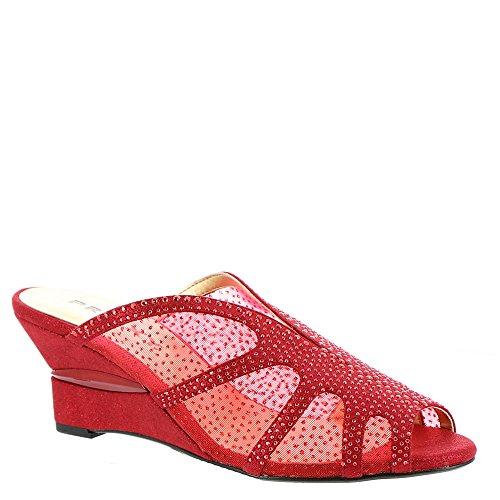 Heel Proxy Red sparkle Wedge P0137 qErOEX
