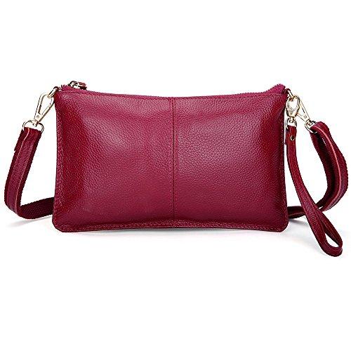 las Bolsa Moda mano la PU embrague Rojo Para hombro Manilla Viento Crossbody mujeres bolso de Pequeño Bolsa de billeteras de Bolso de Diferente Cuero zx1Y88