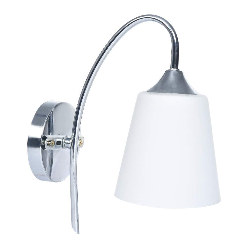 Sonmer Indoor Wall Light, Fixture Modern Bedroom Bedside Lamp, Glass Shade White, E27 Base,LED Modern Light Home Decor