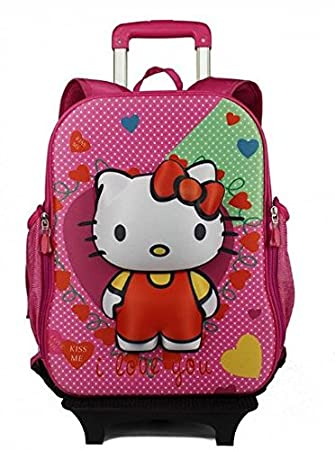 DI GRAZIA ABS Plastic Hello Kitty 2 in 1 Convertible Multicolour Hardshell Travel  School Backpack and a4acab440e