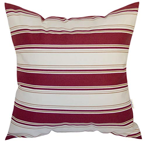 (TangDepot Decorative Handmade Stripe Cotton Throw Pillow Cover, Pillow Sham, Euro sham, Indoor/Outdoor Square Cushion Cover - (20