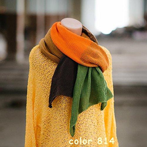 ZuzuHobby Unique Cotton Yarn, Multicolor, Wonderful Knitting Roll, Hand Knitting, Crocheting, 9,88 Ounces / 984 Yards (811) by ZuzuHobby (Image #6)