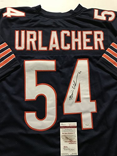 Autographed/Signed Brian Urlacher Chicago Bears Blue Football Jersey JSA COA - Brian Urlacher Autographed Jersey