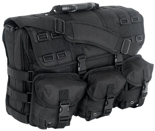 MOLLE System Laptop Attache, Black - 600 Denier Polyester Portfolio