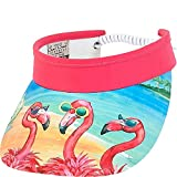 Sun 'N' Sand Flamingo With Glasses Visor (One Size - Pink)