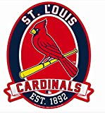 "11X13"" Saint St. Louis Cardinals MLB Wood Street Sign"