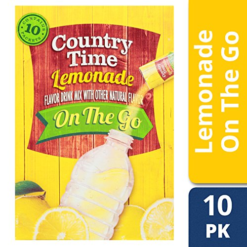 Country Time Lemonade On-the-Go Packets, 10-Count Boxes (Pack of 6) ()