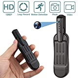 BINDOUF Spy Camera Pen, HD 1080P Clip Mini Hidden Cameras Security Meeting Cam Portable Pocket Tiny Video Recorder for Business and Conference