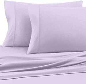 COOLEX Wicking Sheets Ultra-Soft Bed Sheet Set - Moisture Wicking, Cool, Wrinkle Free and Fade Resistant (Queen, Lavender)