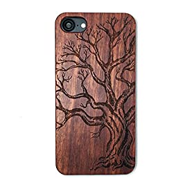 iPhone 7/iPhone 8 Case, BTHEONE [Good Protection] Natural Wood Back Flexible PC Silicone Hybrid Arc Bumper Shockproof Case for iPhone 7 (Rosewood-Dead tree) 19 <p>Wood Case For iPhone 7 4.7inch We are the factory if you need a large number of wooden case, do not hesitate to contact us, we will give you preferential prices √ Compatible with iPhone 7 (Not for iPhone7 Plus) √ Naturally wood different,each wood back has a unique grain and texture. √ Specially designed for iPhone 7, has precise design for speakers, charging ports, audio ports and buttons. √ The use of Natural wood materials is eco-friendly. It will let you feel special when you get together with your friends! √ Materials:(Natural wood +pc) Simple, elegant, functional, the iPhone 7 Plus case features a refined design, and lasting protection.</p>