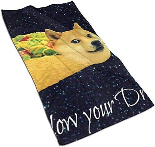 EXking Funny Hot Dog Print Handdoeken Extra Grote Handdoeken Snel Droog Gezicht Handdoeken Lichtgewicht