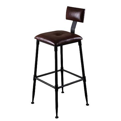 BZEI-Chair Sgabelli da Bar in Metallo con Schienale per Cucina ...