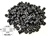 Lot of 25 Rubber Grommets 1/4'' Inside Diameter - Fits 1/2'' Panel Holes