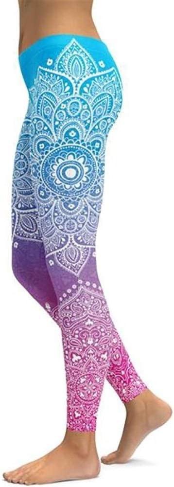 GLANGYU Yoga Hosen Frauen Leggings Nahtlose Mandala Frauen Sportswear Gym Legging Push Up Sport Wear Elastic Slim Laufhose