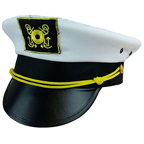 Captain Hat - Yacht Boat Sailing Fishing Captains Cap Funny Party Hats (Funny Caps)