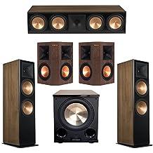 Klipsch 5.1 Walnut System with 2 RF-7 III Floorstanding Speakers, 1 RC-64 III Center Speaker, 2 Klipsch RP-250S Surround Speakers, 1 Klipsch PL-200II Subwoofer