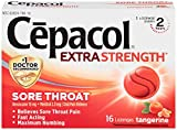Cepacol Sore Throat, Extra Strength, Lozenges, Tangerine – 16 Count (5 Pack)