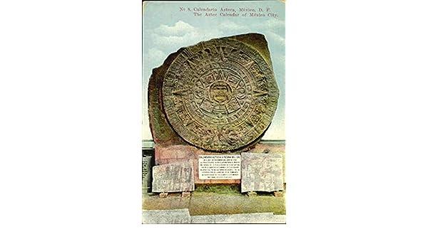 Calendario Azteca O Piedra Del Sol Mexico Original Vintage Postcard at Amazons Entertainment Collectibles Store