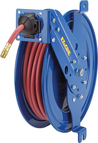 """Coxreels EZ-SG17L-L350 Side mount reel with guide arm, EZ-Coil safety system equipped, 3/8""""x50"""