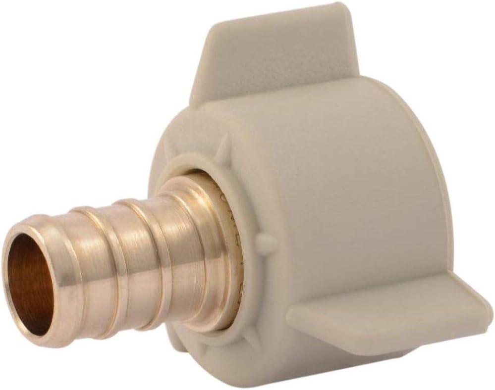 """SharkBite UC526LFA10 1/2"""" Female Swivel x PEX Barb Fitting Adapter (10-Pack), Tan"""