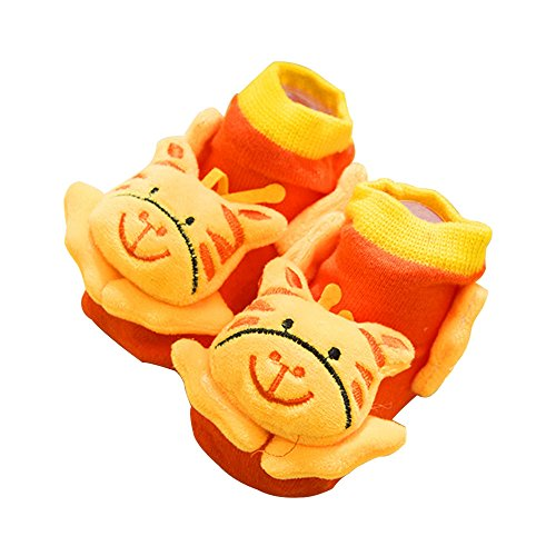 Fawn Flooring - Refaxi Lovely Unisex Baby Kid Toddler Newborn 3D Cartoon Plush Short Sock Flooring Sock,Fawn