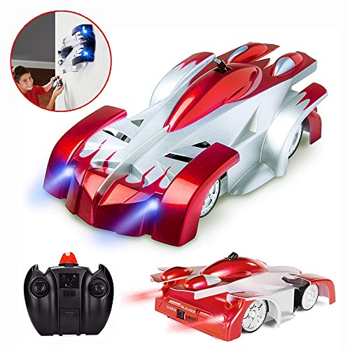 Joyjam Racing Car for 5-10 Year Old Boy RC Car Wall Climbing Car 360° Rotating Stunt Superhero Toy Cars Girl Birthday Gifts PQC Red