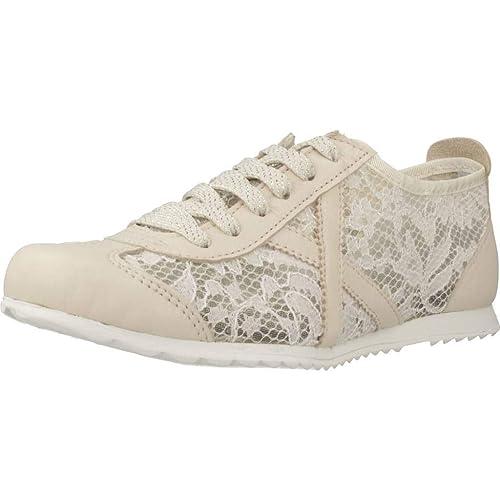 Munich, Osaka 367 Blanco Encaje Zapatilla Mujer: Amazon.es: Zapatos y complementos