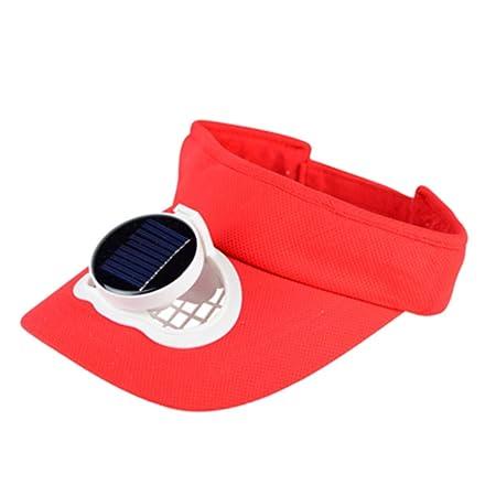 NQFL Tapa De Ventilador Solar para Adultos, Verano, Protección ...