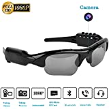 Camera Glasses,Bluetooth Sunglasses Camera Full HD 1080P with Wide Angle Mini Camera for Outdoor Sports