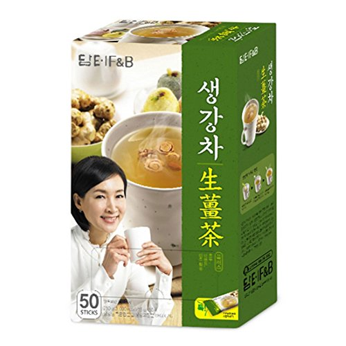 DAMTUH Korean Traditional Tea Premium Ginger Tea Plus, Ginger Powder, Herbal Supplement Healthy Ginger Tea, 50 Sticks